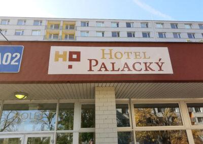 výroba a montáž cedule Hotel Palacký