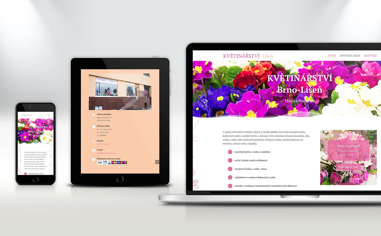 web Květinářství Líšeň